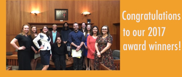 a picture of the 2017 Kutztown English award winners